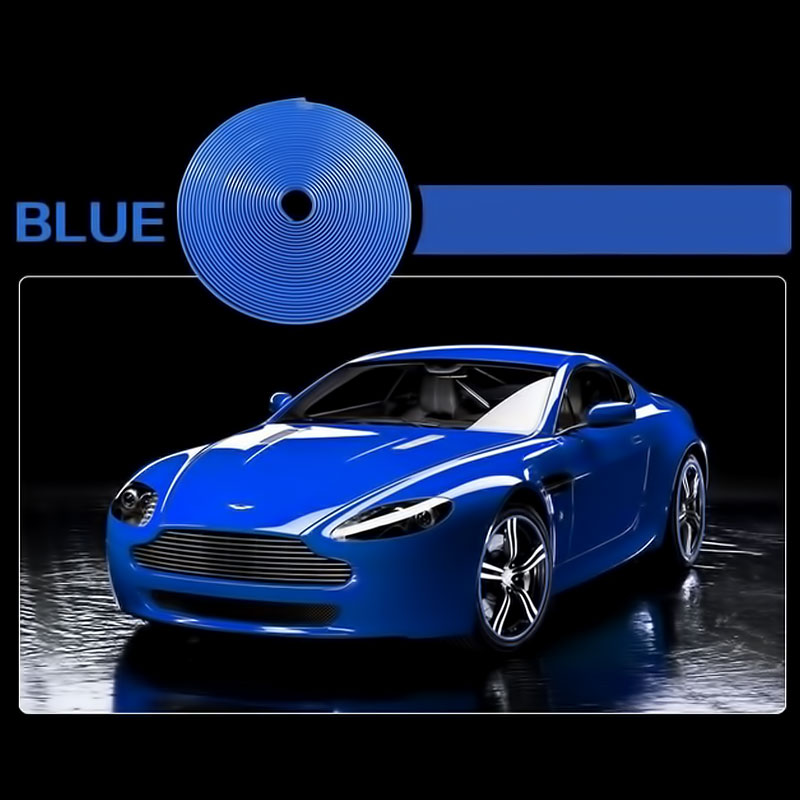 Διακοσμητική 3D αυτοκόλλητη ταινία για τις ζάντες 8m - Μπλε - 1252 33184