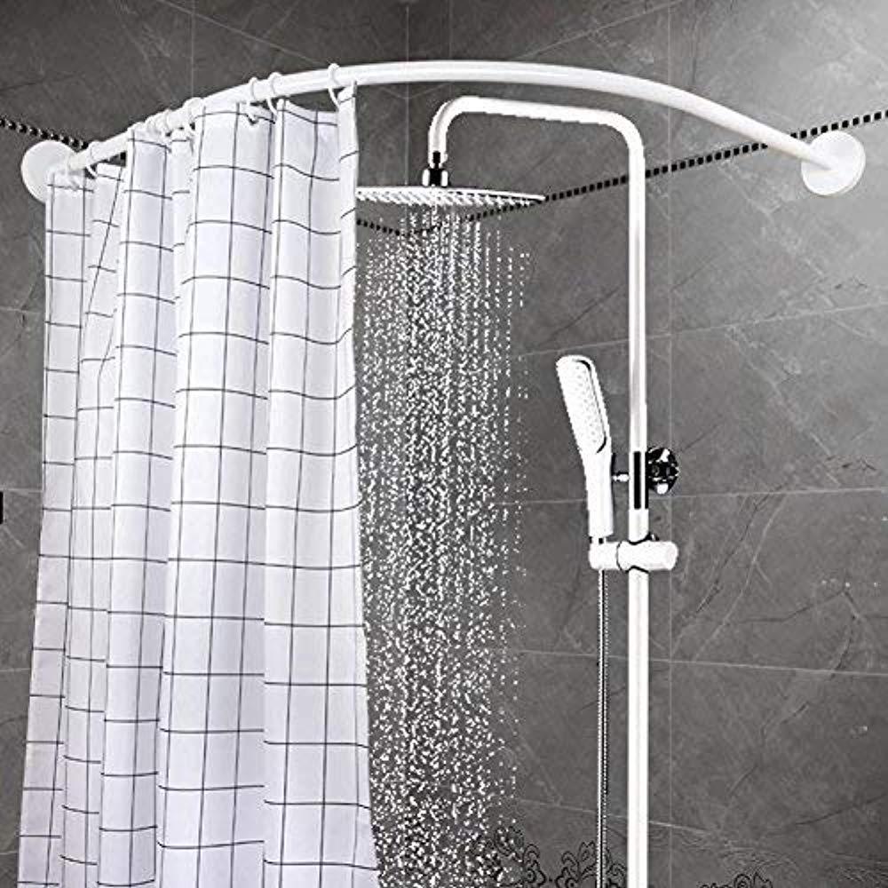 Βραχίονας κουρτίνας μπάνιου γωνιακός 90x90cm - Λευκός - 1252 33120