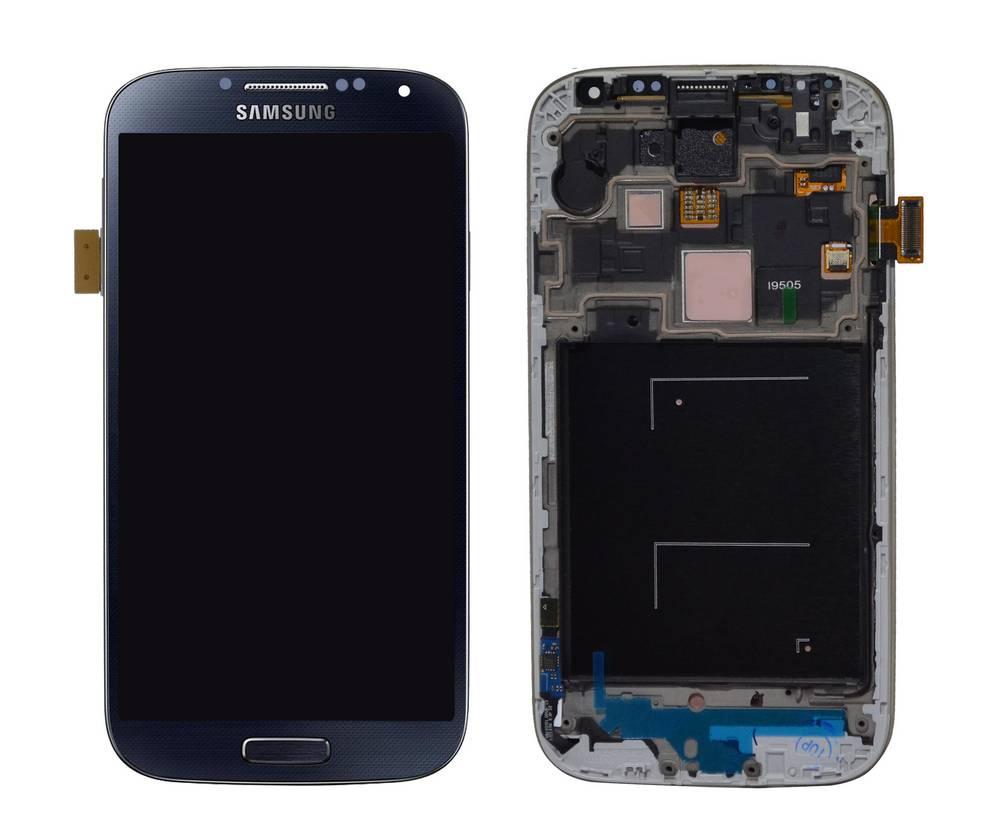 Γνήσια Οθόνη & Μηχανισμός Αφής Samsung i9505 Galaxy S4 Μαύρο με OEM Πλαίσιο