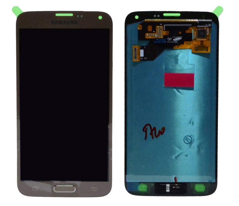 Γνήσια Οθόνη & Μηχανισμός Αφής Samsung SM-G903F Galaxy S5 Neo με Κόλλα Χρυσαφί GH97-17787B