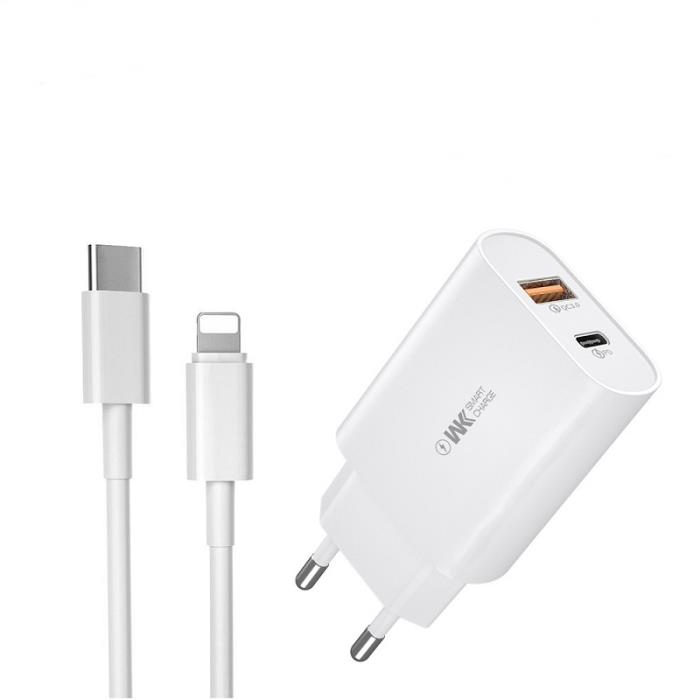 Quick Charger 3.0 +  PD 18W WK WP-U101 combo + PD cable