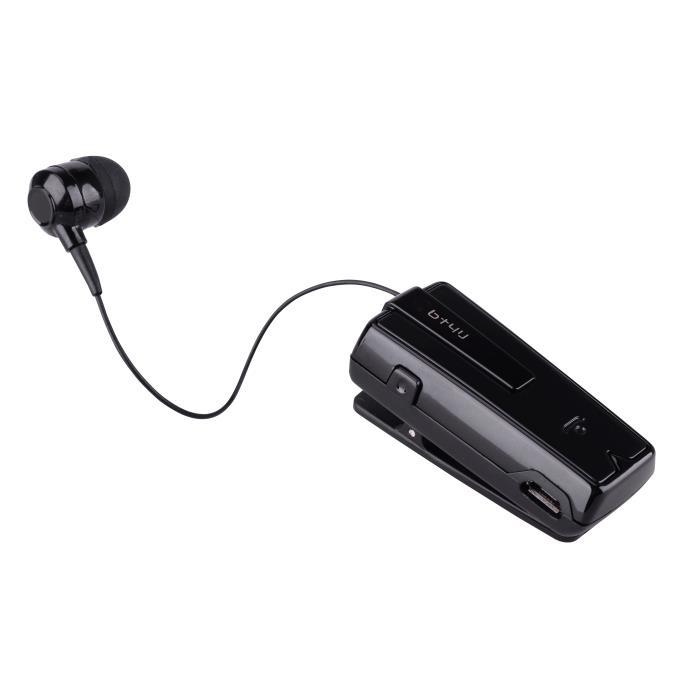 Retractable Bluetooth Headset BT4U Black UA-33XB-V