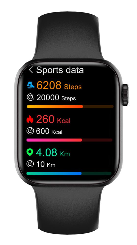 "HIFUTURE smartwatch HiTIME, 1.75"", IP68, heart rate monitor, μαύρο - HIFUTURE 34379"