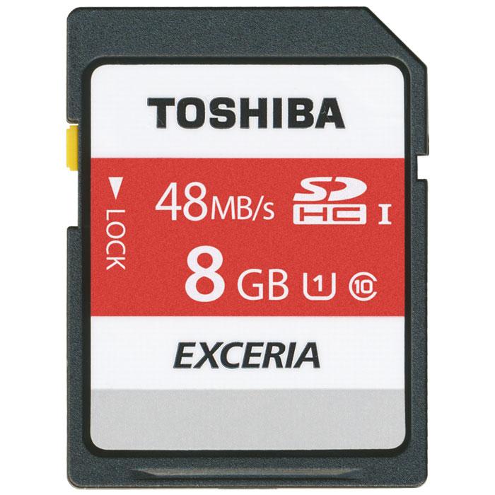 TOSHIBA SDHC 8GB SD N301 EXCERIA R48 UHS-1 CLASS 10 / THN-N301R0080E4