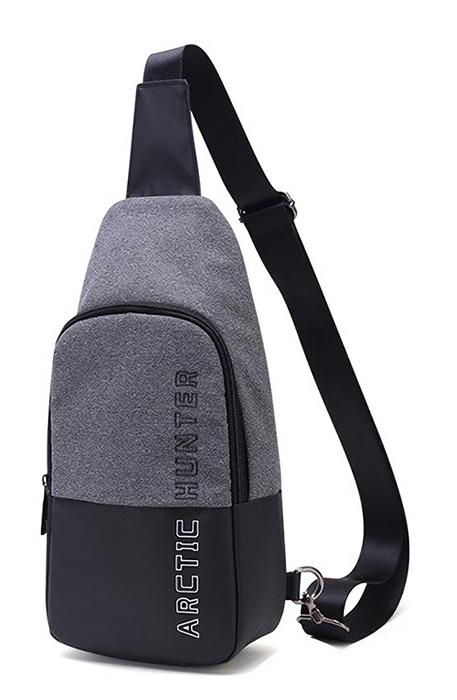 ARCTIC HUNTER τσάντα Crossbody XB0058-DG, αδιάβροχη, σκούρο γκρι - ARCTIC HUNTER 24393
