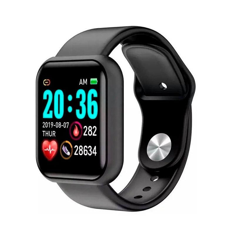 Smartwatch L18 με Μετρητή Καρδιακών Παλμών Χρώματος Μαύρο SPM - L18-Black