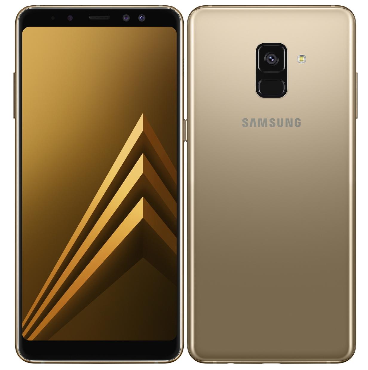 Samsung Galaxy A8 Plus 2018 A730 Dual 64GB Gold Πληρωμή έως 12 δόσεις