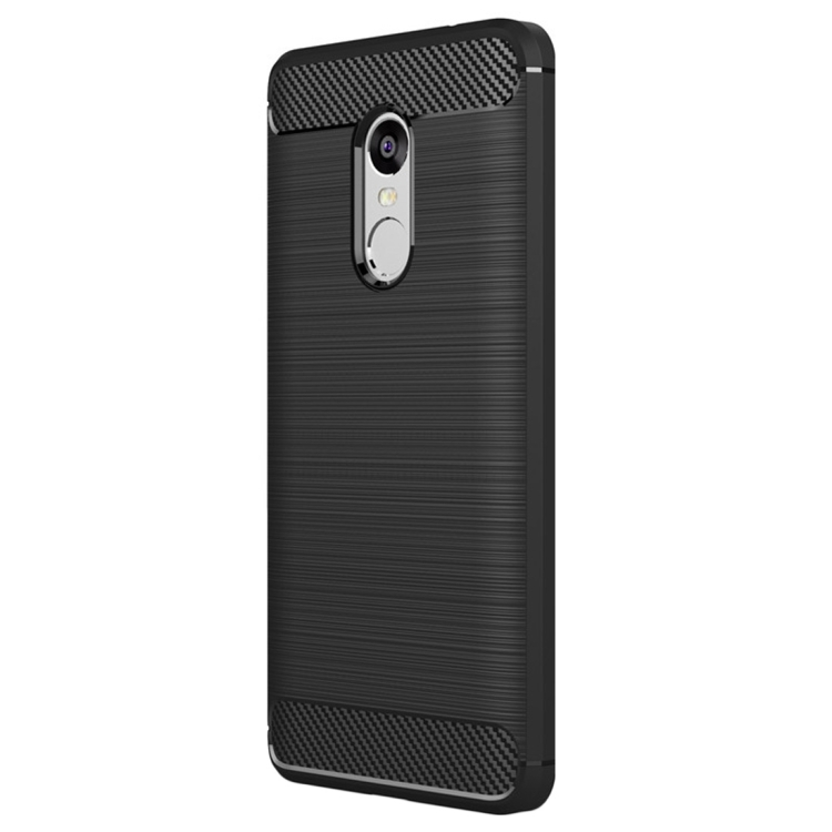 Θήκη Brushed Carbon Back Case για Xiaomi Redmi Note 4X Μαύρη