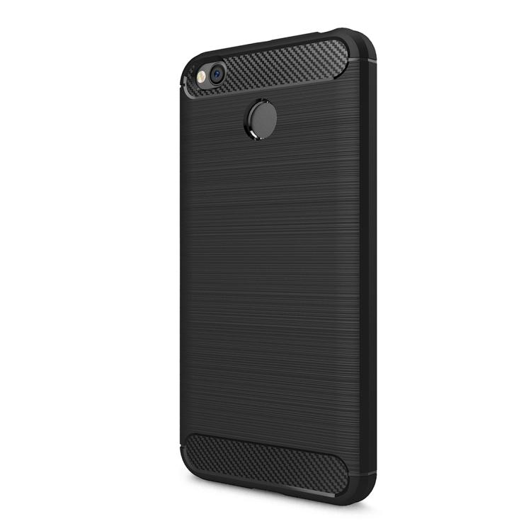 Θήκη Brushed Carbon Back Case για Xiaomi Redmi 4X Μαύρη