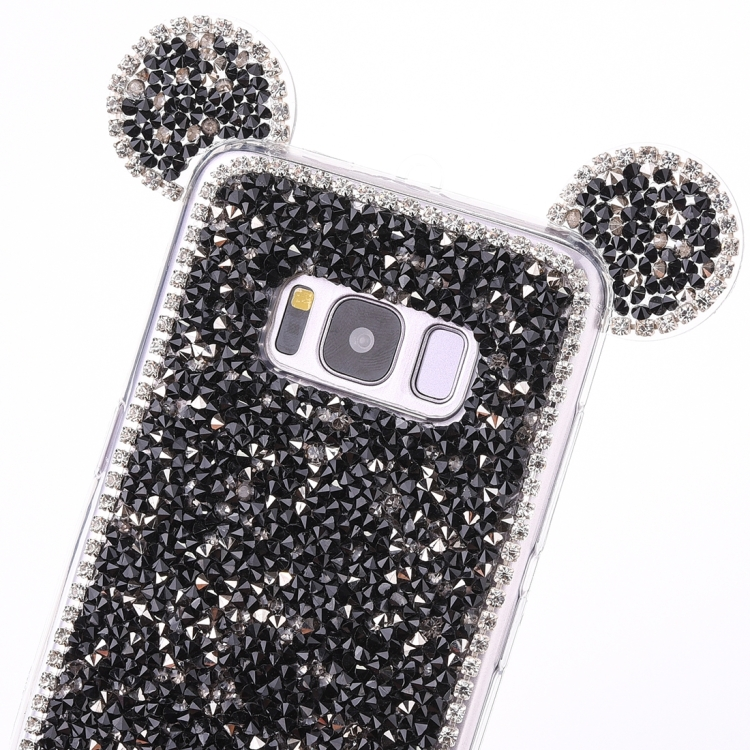 Θήκη Mouse Ear Jelly TPU Protective Case για Samsung Galaxy S8- Μαύρη