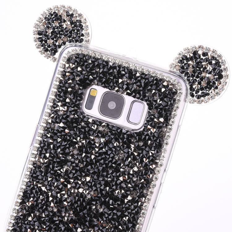 Θήκη Mouse Ear Jelly TPU Protective Case για Samsung Galaxy S8- Μαύρη