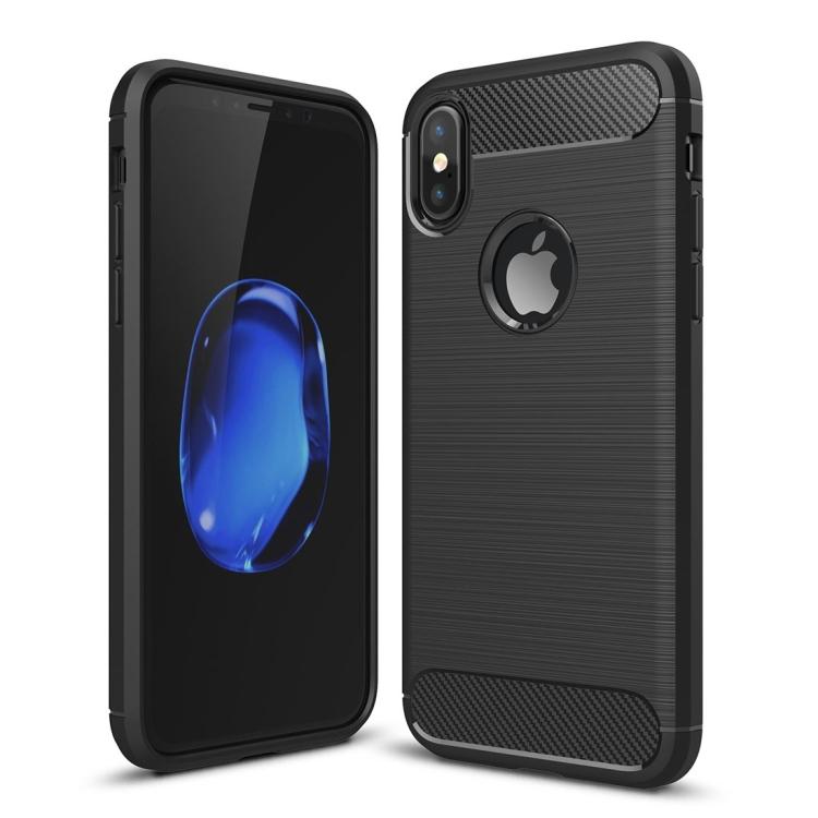 Θήκη Brushed Carbon Back Case για iPhone X