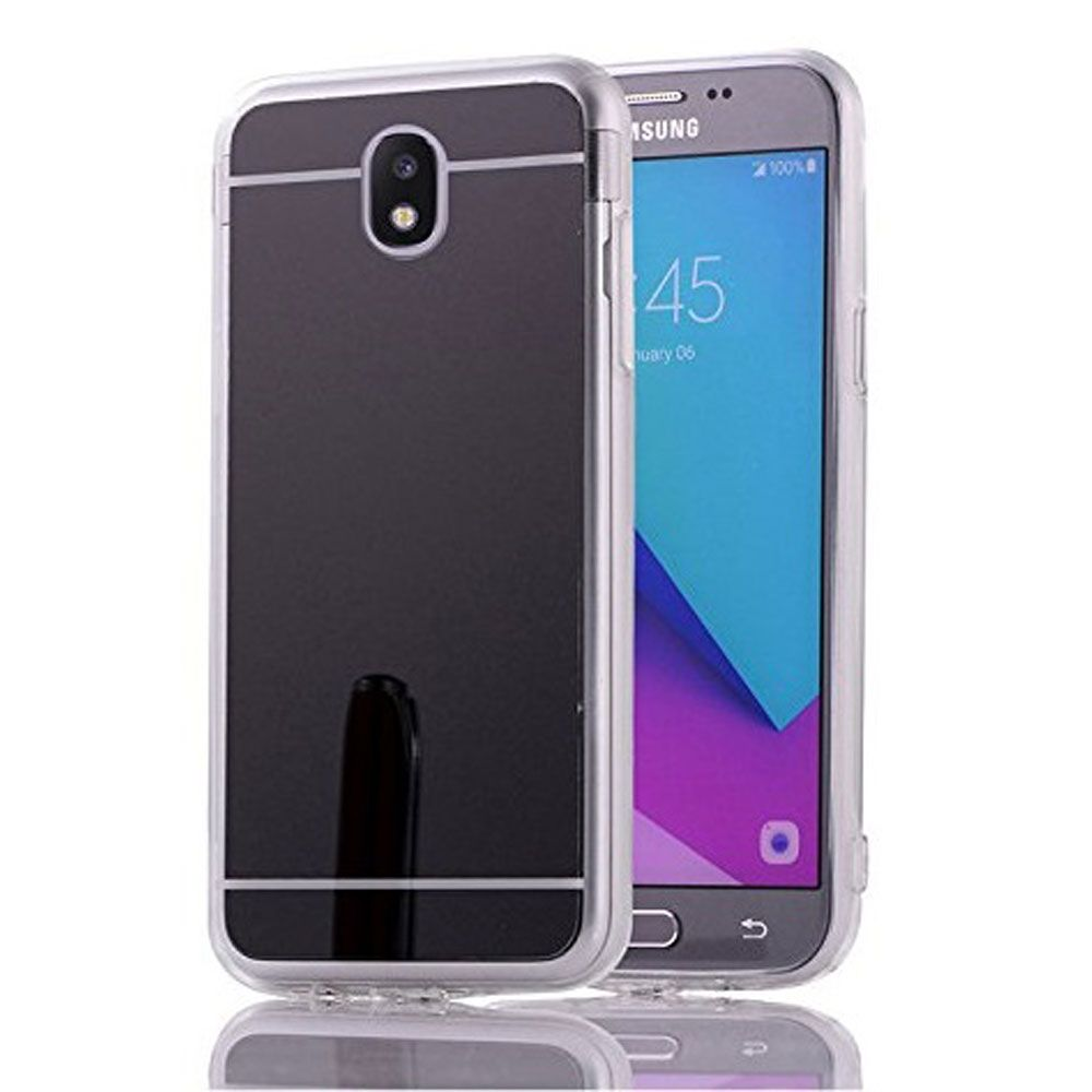Θήκη Mirror Back Cover Case για Samsung Galaxy J5 2017 / J530 - Grey/Black
