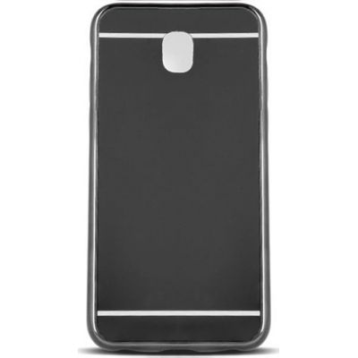Θήκη Mirror Back Cover Case για Samsung Galaxy J7 2017 - Grey/Black