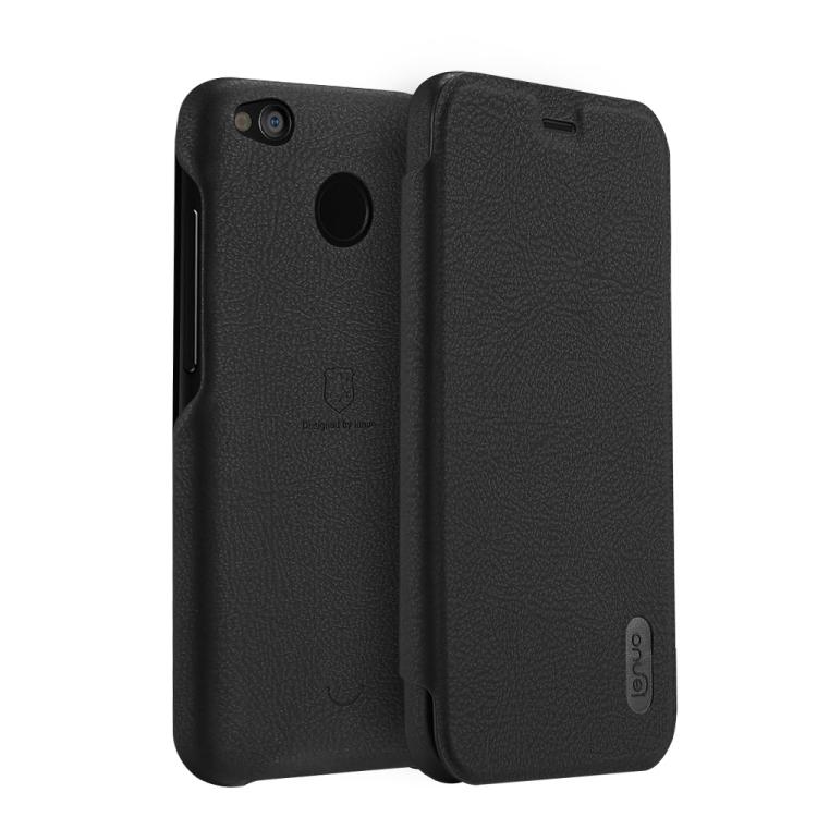 Θήκη Flip Case Lenuo Δερμάτινη για Xiaomi Redmi 4X Μαύρη