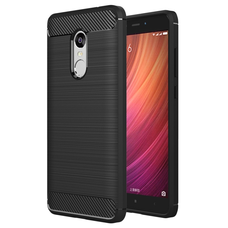 Θήκη Brushed Carbon Back Case για Xiaomi Redmi Note 4 Μαύρη
