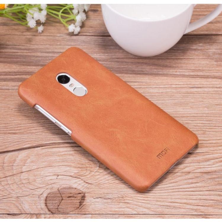 Θήκη Book MOFI Crazy Horse Texture Δερμάτινη Για Xiaomi Redmi Note 4 Καφέ