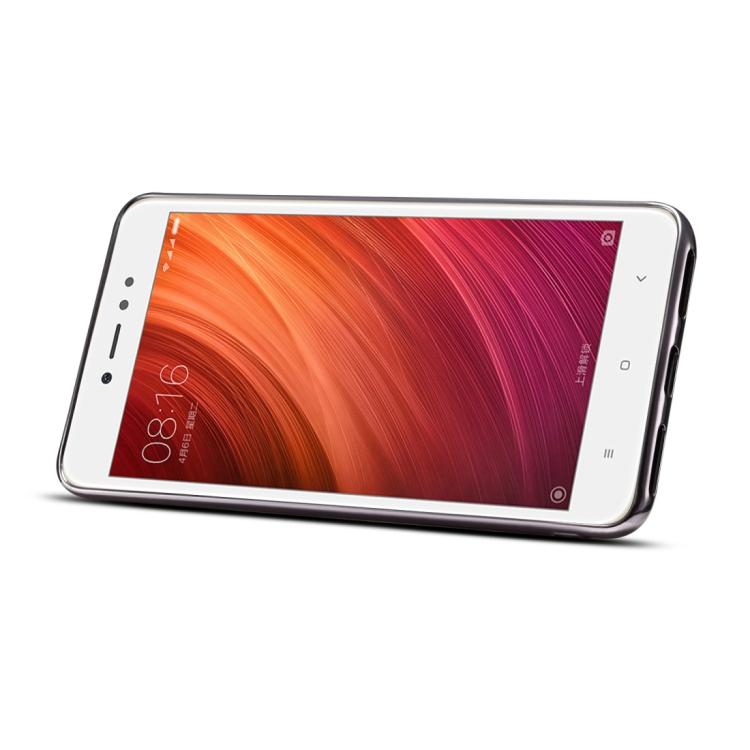 Θήκη Dibase Δερμάτινη Electroplating With Holder & Card Slots & Lanyard Για Xiaomi Redmi Note 5a Καφέ