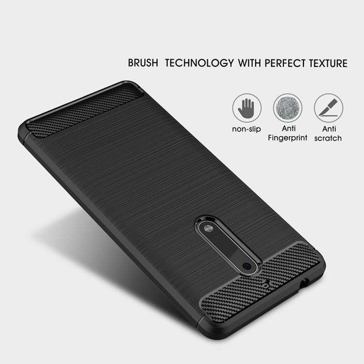 Θήκη Brushed Carbon Case για Nokia 5 Μαύρη