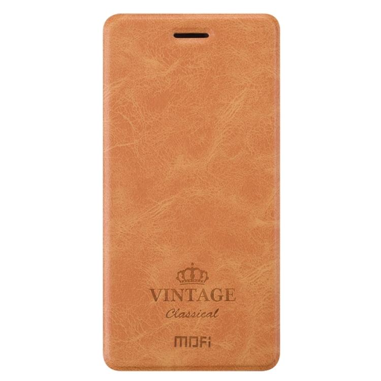 Θήκη Book MOFI Vintage Δερμάτινη για Xiaomi Mi 6 Καφέ