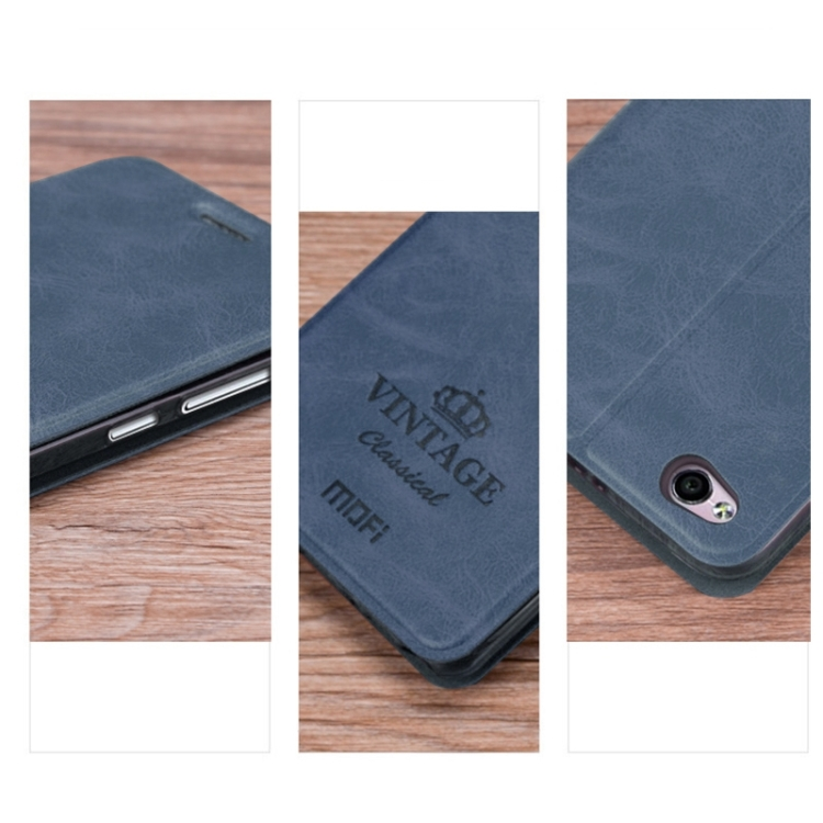Θήκη Book MOFI Vintage Δερμάτινη για Xiaomi Redmi 4A Σκούρο Μπλε