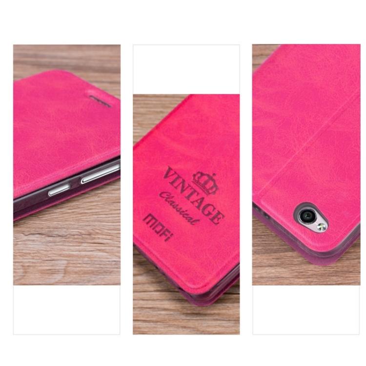 Θήκη Book MOFI Vintage Δερμάτινη για Xiaomi Redmi 4A Φούξια