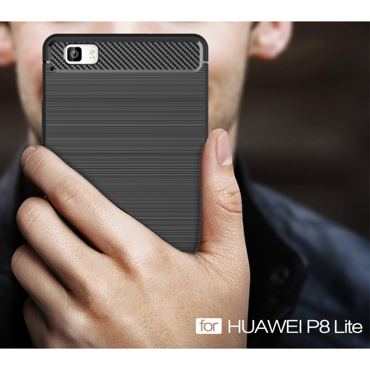 Θήκη Brushed Carbon Back Case για Huawei P8 Lite