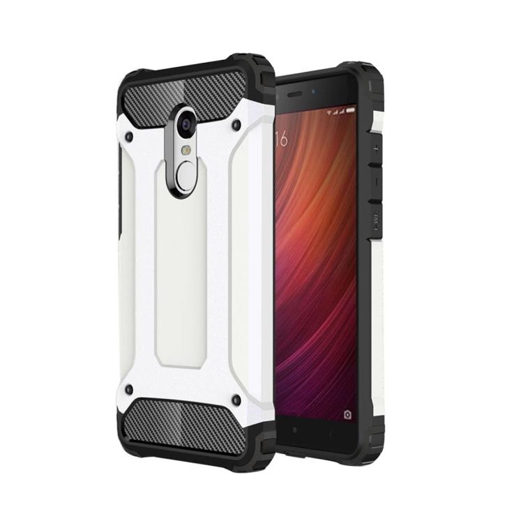 Θήκη Πολυανθρακική Tough Armor για Xiaomi Redmi Note 4X Λευκή