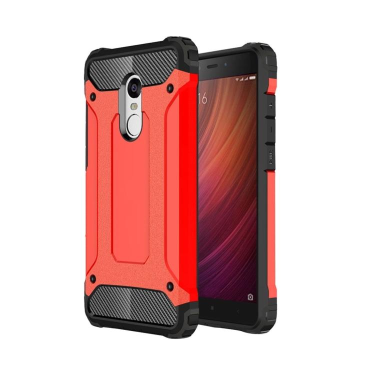 Θήκη Πολυανθρακική Tough Armor για Xiaomi Redmi Note 4X Κόκκινη