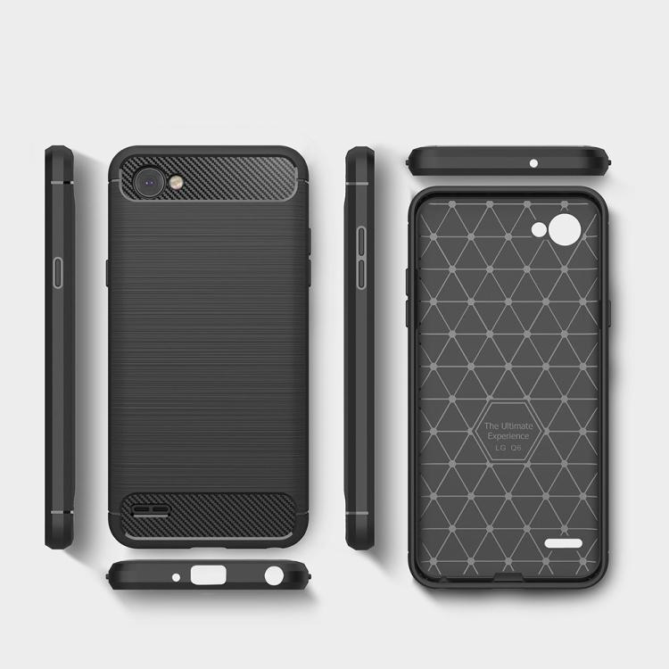 Θήκη Brushed Carbon Back Case για LG Q6