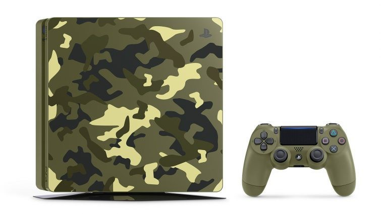 Sony Playstation 4 PS4 Slim Camouflage Limited Edition 1TB & Call of Duty WWII Πληρωμή έως 24 δόσεις