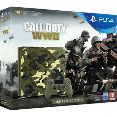 Sony Playstation 4 PS4 Slim Camouflage Limited Edition 1TB & Call of Duty WWII Πληρωμή έως 12 δόσεις