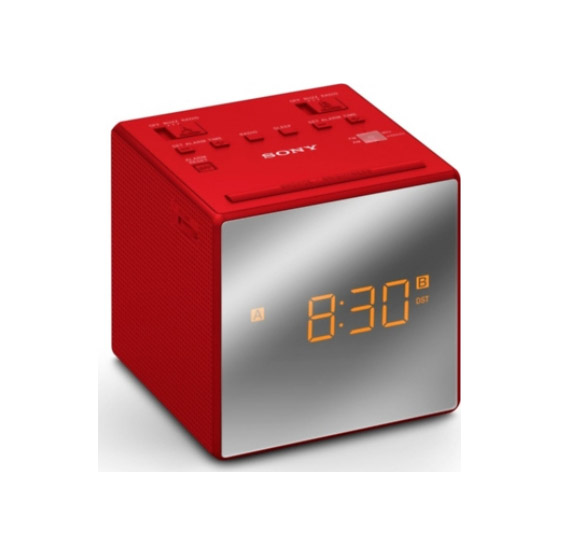 Sony ICF-C1TR Alarm Clock Red