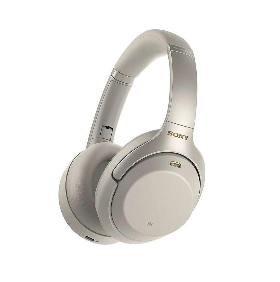 Sony WH-1000XM3 Noise-Cancelling Bluetooth Headphones Silver