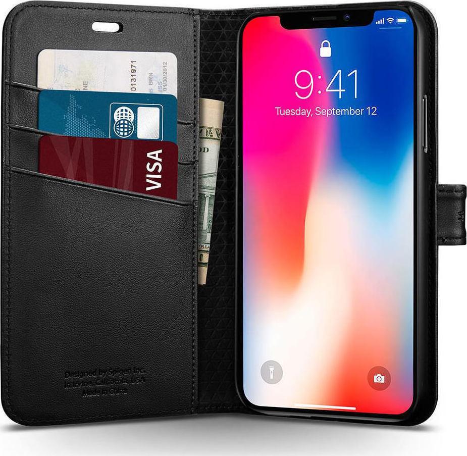 Θήκη Spigen Wallet S για iPhone X Black