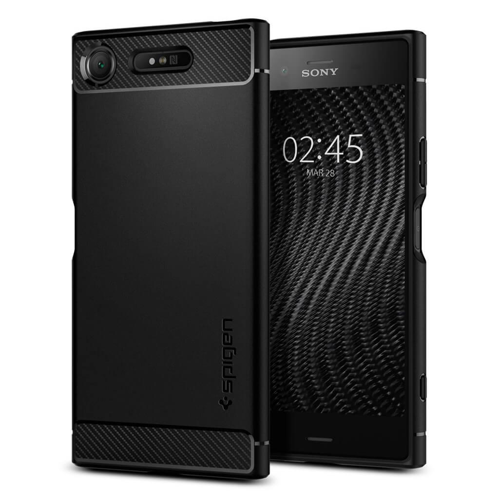 Θήκη Spigen Rugged Armor για Sony Xperia XZ1 Black