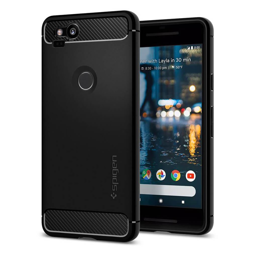 Θήκη Spigen Rugged Armor για Google Pixel 2 Black