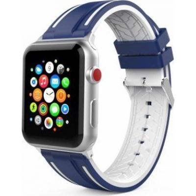 Tech-Protect Welling Apple Watch 42mm Λουράκι Navy/White