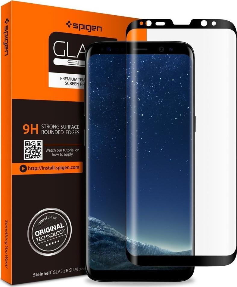Spigen GLAS.tR Full Face Tempered Glass για Samsung Galaxy S8 G950 Black