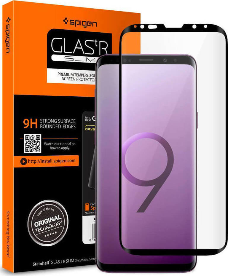 Spigen GLAS.tR Full Face Tempered Glass για Samsung Galaxy S9 G960 Black