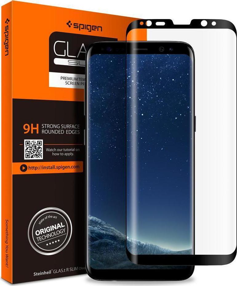 Spigen GLAS.tR Full Face Tempered Glass για Samsung Galaxy S9 Plus G965 Black