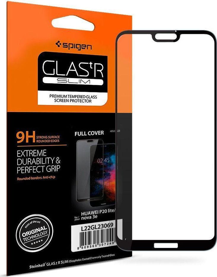 Spigen GLAS.tR Full Face Tempered Glass για Huawei P20 Lite Black