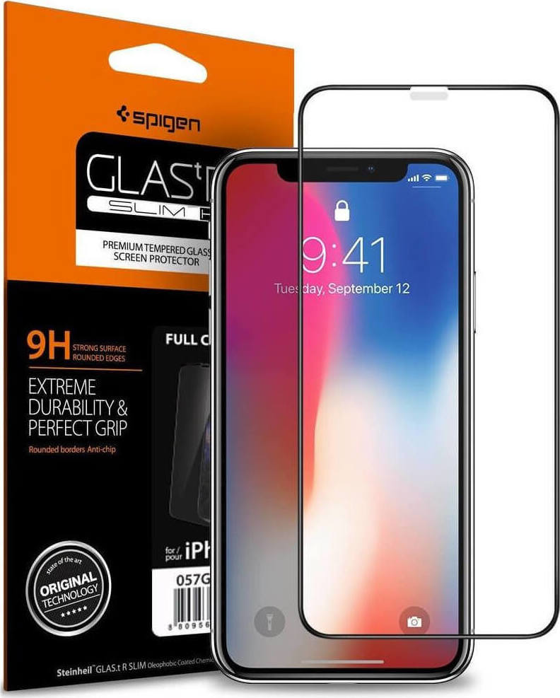 Spigen GLAS.tR Full Face Tempered Glass για iPhone X/XS