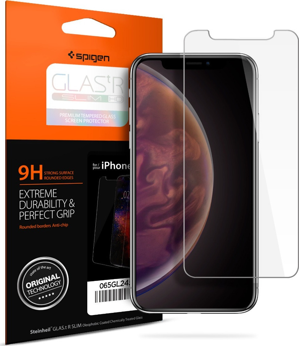 Spigen GLAS.tR Tempered Glass για iPhone XS Max