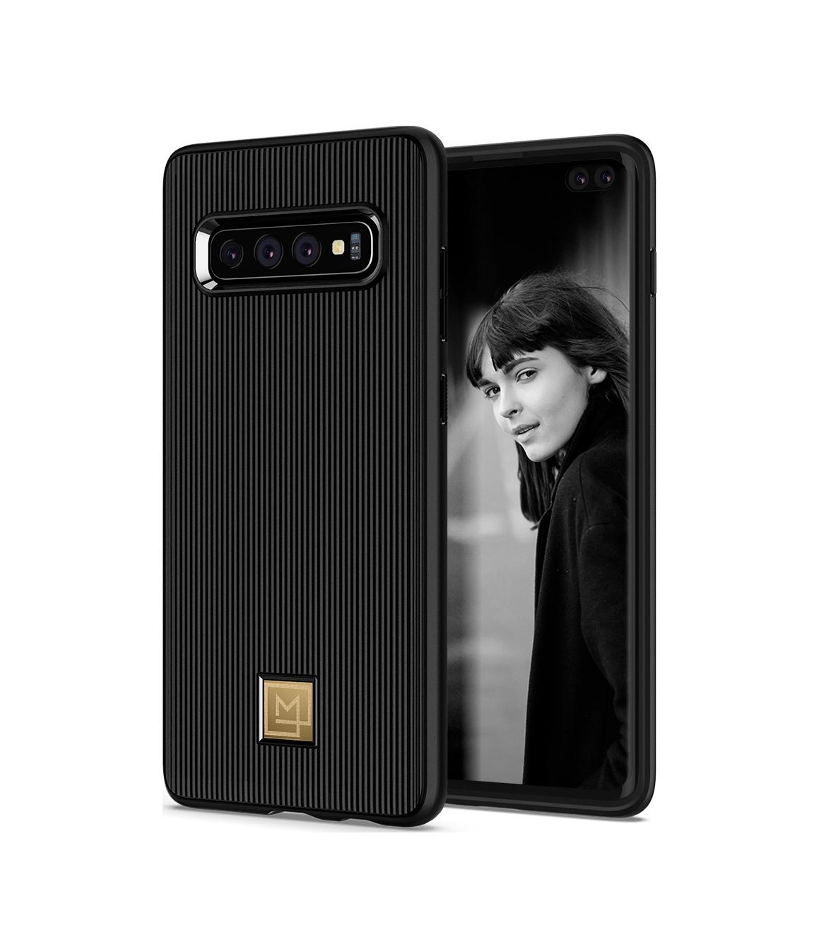 Θήκη Spigen La Manon Classy Back Cover για Samsung Galaxy S10 Plus G975 Black