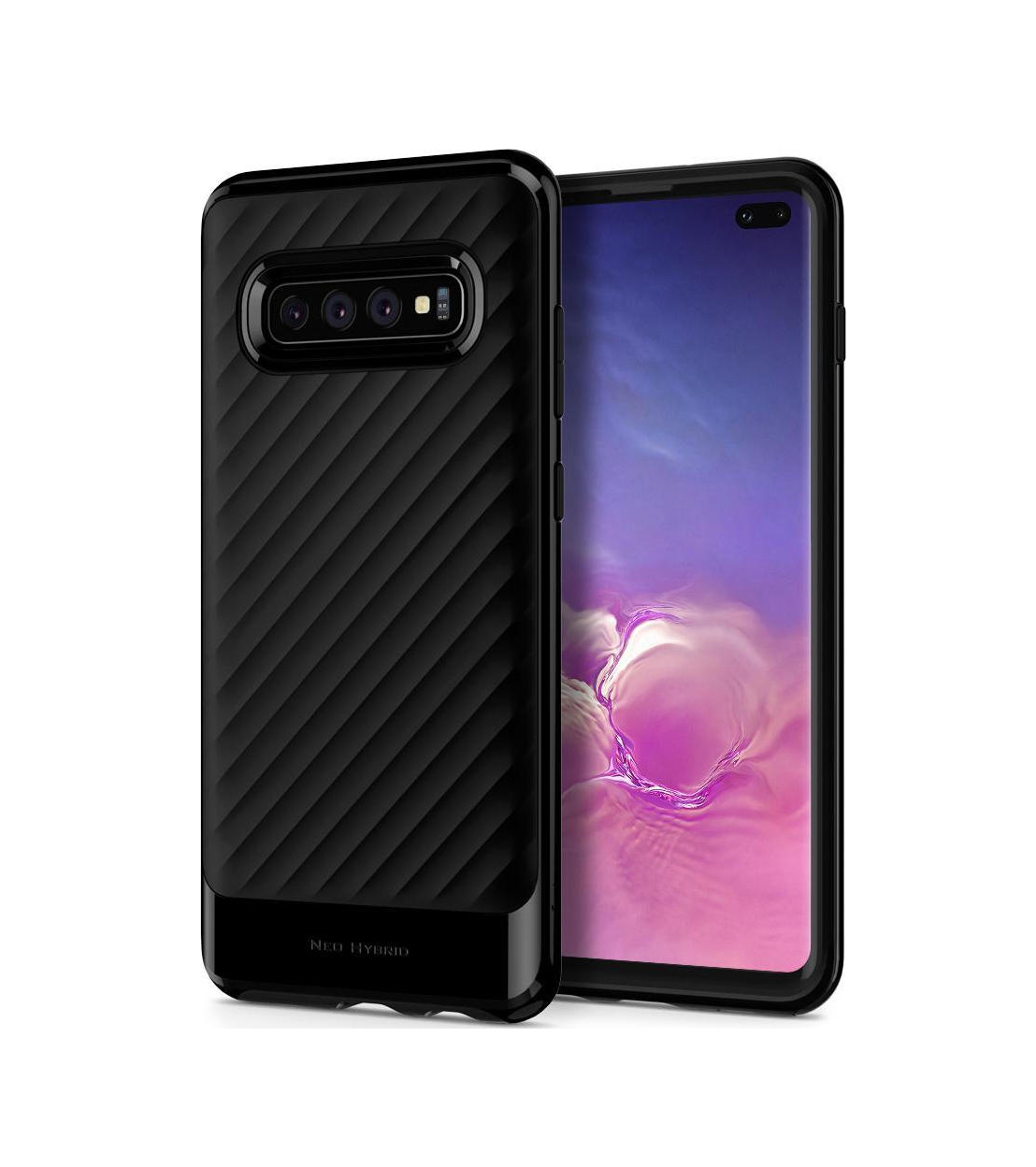 Θήκη Spigen Neo Hybrid για Samsung Galaxy 10 Plus G975 Midnight Black
