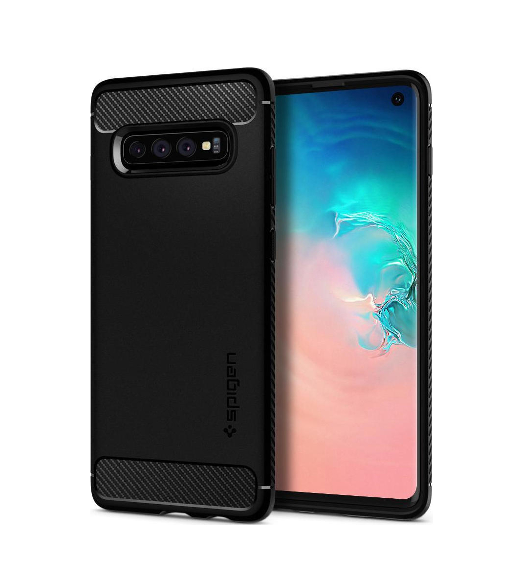 Θήκη Spigen Rugged Armor για Samsung Galaxy S10 G973 Matte Black 605CS25800