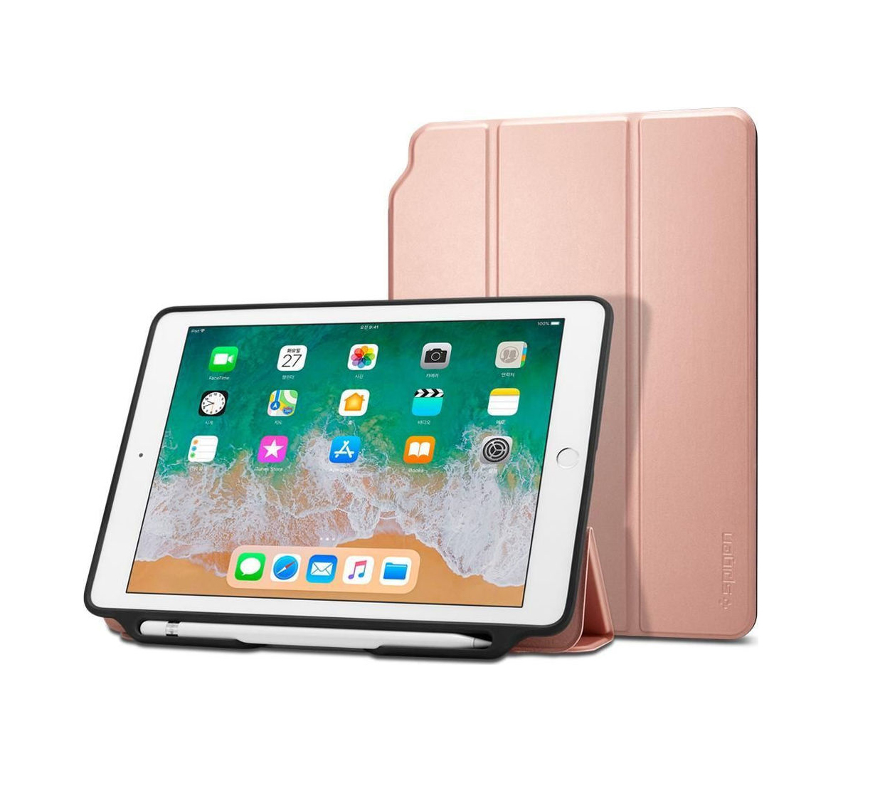 Θήκη Spigen Smart Fold 2 (iPad 9.7 2017/2018) Rose Gold