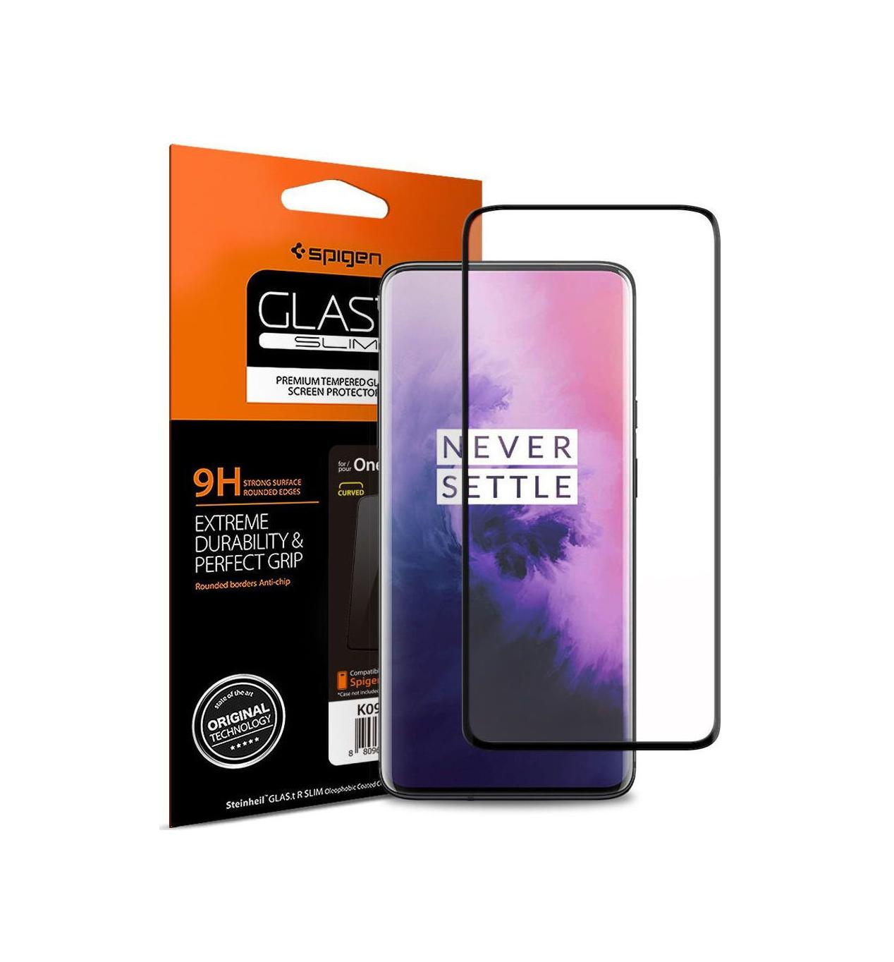 Spigen GLAS.tR Curved Full Face Tempered Glass για OnePlus 7 Pro Black K09GL26502