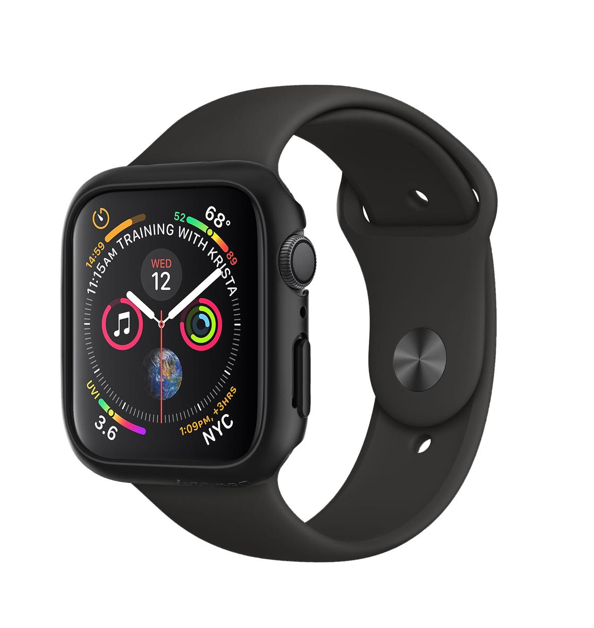Θήκη Spigen Thin Fit για Apple Watch Series 4 40mm Black 061CS24484